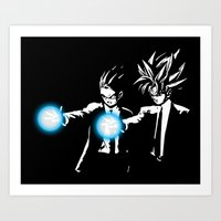 dbz Art Prints featuring DBZ Fiction by orangpalsu
