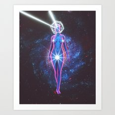 Starry Sky Emoji & Diamond Emoji Art Print