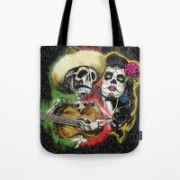 dia de los muertos Tote Bags featuring Dia de Los Muertos by Kevin Rogerson