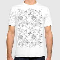 Ocarina Patterns SMALL Mens Fitted Tee White