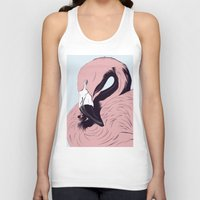 flamingo Tank Tops featuring Flamingo by CranioDsgn