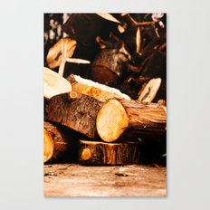 Chopped Wood Canvas Print