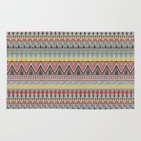whisky Area & Throw Rugs featuring WHISKY AZTEC  by Kiley Victoria