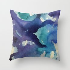 I dream in watercolor B Throw Pillow