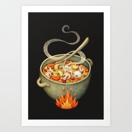 Damned Soup Art Print