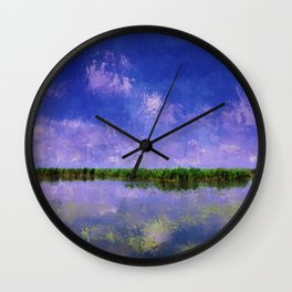 Blue Summer Sky and Water Wall Clock