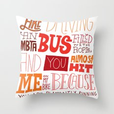 MBTA: Fun Fact! Throw Pillow