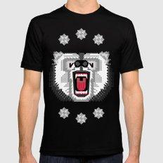 Polar Bear Geometric MEDIUM Mens Fitted Tee Black