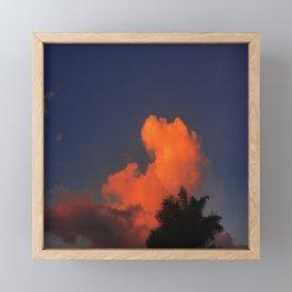 Vibrant Orange Sunset Clouds In Blue Sky  Framed Mini Art Print