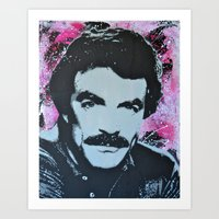 tom selleck Art Prints featuring Tom Selleck _ Who Wants A Moustache Ride? by cutanddestroy1