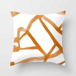 Abstract Map orange Nr. 2 Throw Pillow