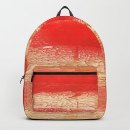 Burnt sienna abstract watercolor Backpack