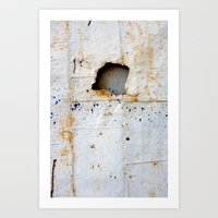 Rust and Blue Art Print