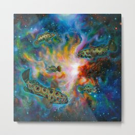 Swim for the stars Metal Print