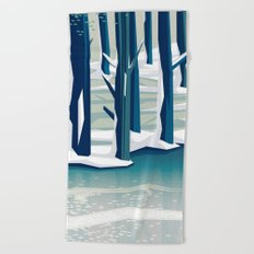 Spring was coming Beach Towel
