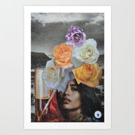 Collage Tarot - 5 of Cups Art Print
