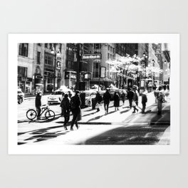 Street Scene New York Art Print