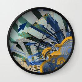 Vector Cubism Wall Clock