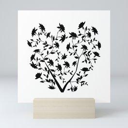 Black Rose bush Mini Art Print