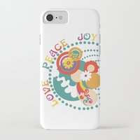 70s iPhone & iPod Cases featuring 70s Circle  by Louise Machado