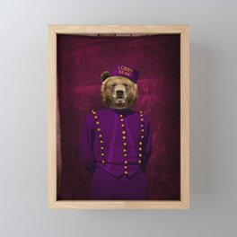 Lobby Bear Framed Mini Art Print
