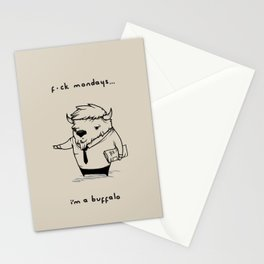 I'm a buffalo Stationery Cards
