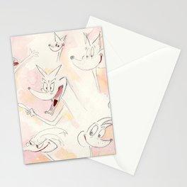 Cartoon Retro Pose Stationery Cards