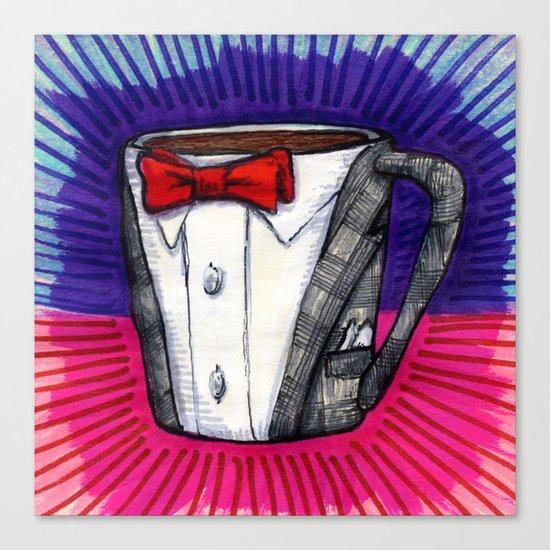 I drew you a Pee-wee Herman Suit Mug of Coffee Canvas Print
