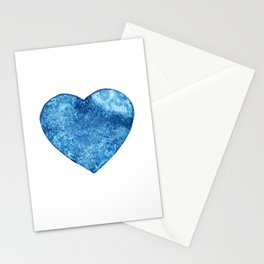 Blue Heart Moon Stationery Cards