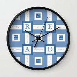 Read A Leenie B Book (blue) Wall Clock