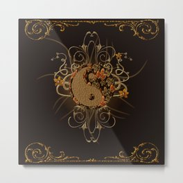 The sign ying and yang Metal Print