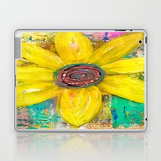 Abstract Yellow Flower Laptop & iPad Skin