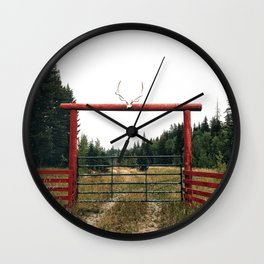 country gate Wall Clock