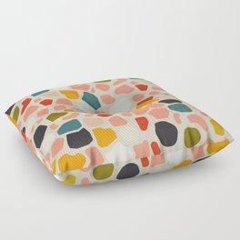 terrazzo mosaic shapes modern Floor Pillow