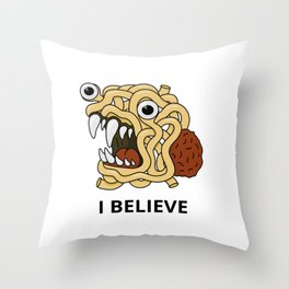 The flying spaghetti monster Throw Pillow