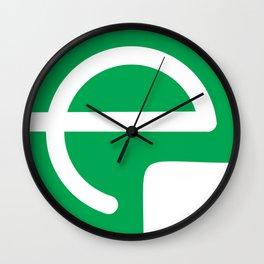 e logo Wall Clock