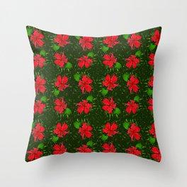 Christmas Flower Throw Pillow