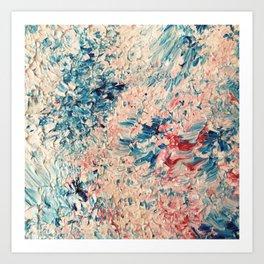 Abstract Pastel Paint Art Print