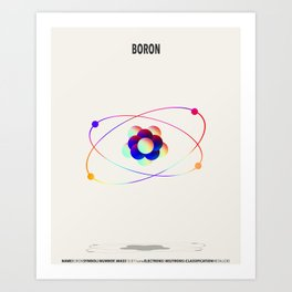 Boron - Element Art Art Print