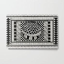 Rectangle Pattern Metal Print