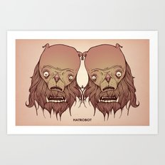 Ugly twins Art Print