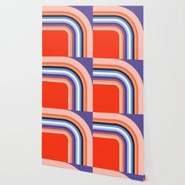70s Stripes Rainbow 2 Wallpaper