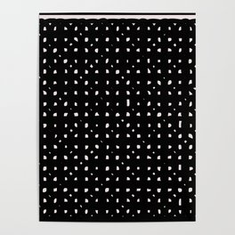 Black minimalist design print Poster