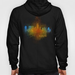 Nashville city skyline Tennessee watercolor v4 Dak Hoody