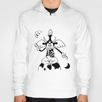 baphomet Hoodies featuring Steamboat Baphomet by dankherbmullet