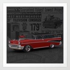 1957 #Chevy #Nomad Hot Rod Art Print