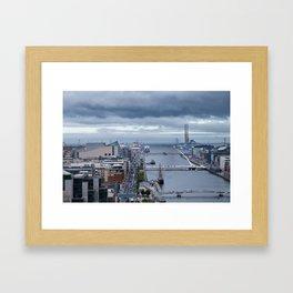 Samuel Beckett bridge aerial view Framed Art Print