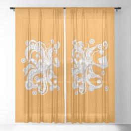 zen watering can Sheer Curtain