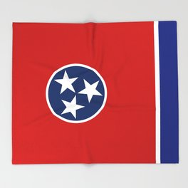 State flag of Tennessee, HQ image Throw Blanket