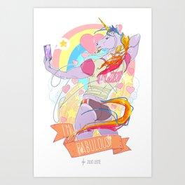 I'm FABULOUS Art Print